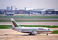 Balkan Bulgarian Airlines Boeing 737-53A; LZ-BOB@LHR;13.04.1996 (5217484578).jpg
