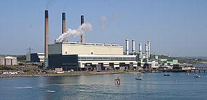 Scotland-Northern Ireland pipeline - Ballylumford Power Station, the biggest customer of SNIP gas.