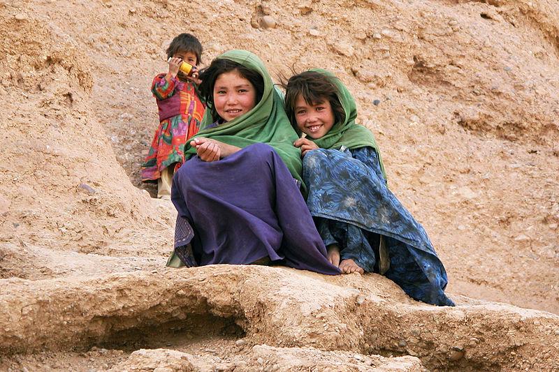 File:Bamiyan Site, children, Bamiyan, Afghanistan.jpg