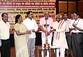Bandaru Dattatreya lighting the lamp to inaugurate the Regional Conference of the State Labour Ministers and Principal SecretariesSecretaries, Labour Department of Western Region, in Jaipur.jpg