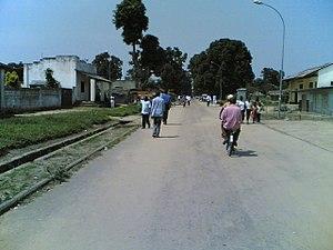 Bandundu Province - Street in central Bandundu
