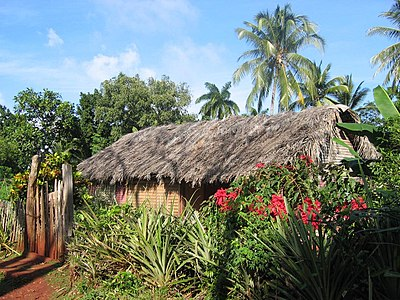A cabin on the hillridge to the south of Baracoa, Cuba