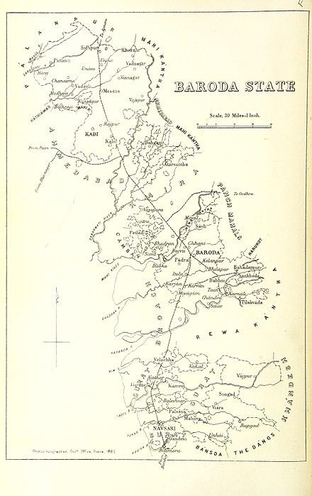 Baroda India Map.Baroda State Wikiwand