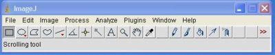 Barre des menus flottante de ImageJ