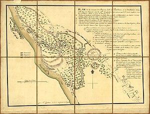 Battle of Barren Hill - Map of the battle of Barren Hill