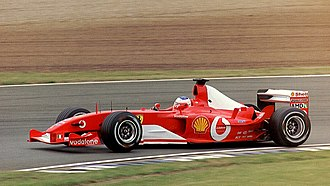 2003 British Grand Prix - Rubens Barrichello won the race for Scuderia Ferrari.