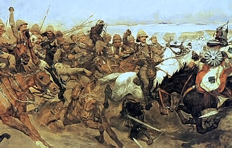 Mahdist War - Depiction of the Battle of Omdurman (1898)