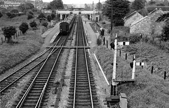 Bathampton - The former railway station in 1963