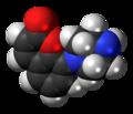Batoprazine molecule spacefill.png