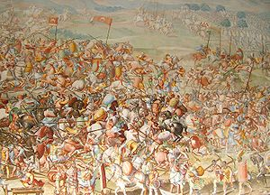 Battle of La Higueruela - The Battle of Higueruela as depicted in the Gallery of Battles at the Royal Monastery of San Lorenzo de El Escorial, Spain..