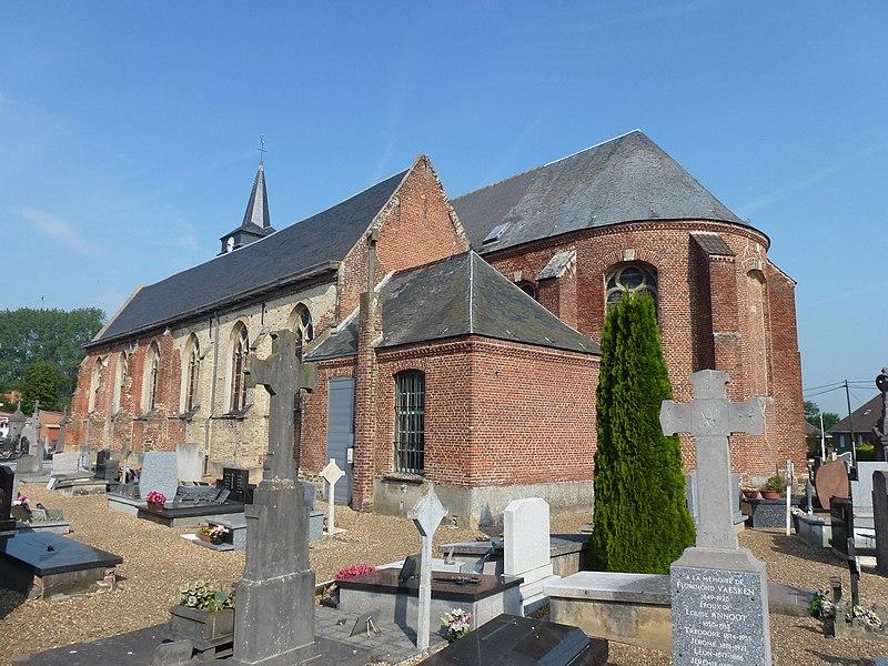 Bavinchove (Nord, Fr) église, chevet