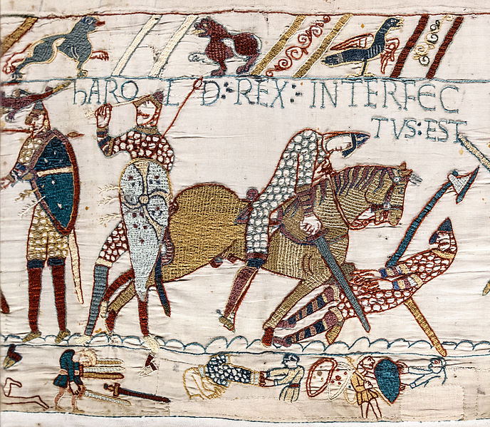 File:Bayeux Tapestry scene57 Harold death.jpg