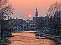 Bdg view from SKbridge sunset 4 04-2014.jpg