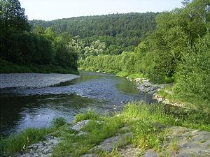 Bečva - The Bečva near its confluence with the Bystřička