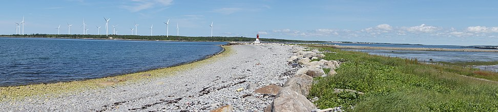 The Pubnico Wind Farm taken from Beach Point, Lower East Pubnico, Nova Scotia