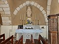 Beauregard-et-Bassac église Beauregard chapelle sud autel.jpg
