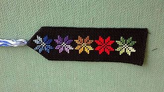 Bookmark - Fabric bookmark with Bedouin embroidery, Lakiya, Israel