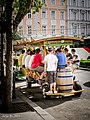 Beer truck, Oktogon, Budapest (10890347374).jpg