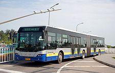 Autobus articulado de la linea 1 de beijing