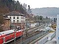 Beim 366 km langen Neckartalradweg, Der Bahnhof in Oberndorf am Neckar - panoramio.jpg