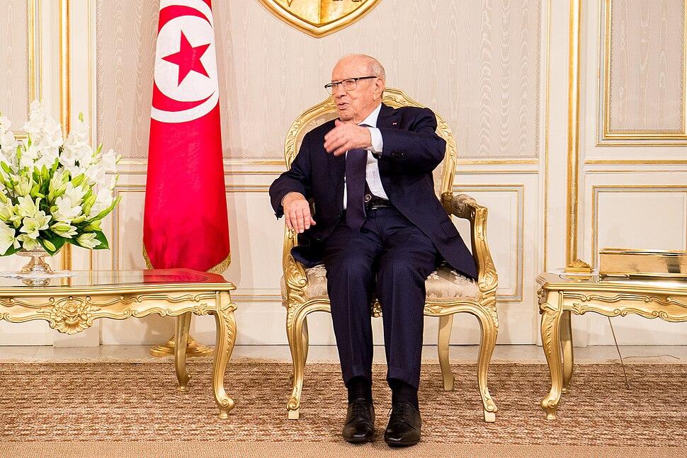 Beji Caid el Sebsi at the Presidential Palace