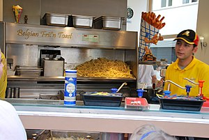 French fries - A Belgian frites shop
