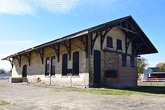 National Register of Historic Places listings in Dane County, Wisconsin - Image: Belleville Illinois Central Railroad Depot