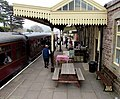 Bench and picnic bench on platform 1, Winchcombe railway station-geograph-4583566-by-Jaggery.jpg