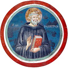 San Benedetto da Norcia, affresco nell'abbazia di Subiaco