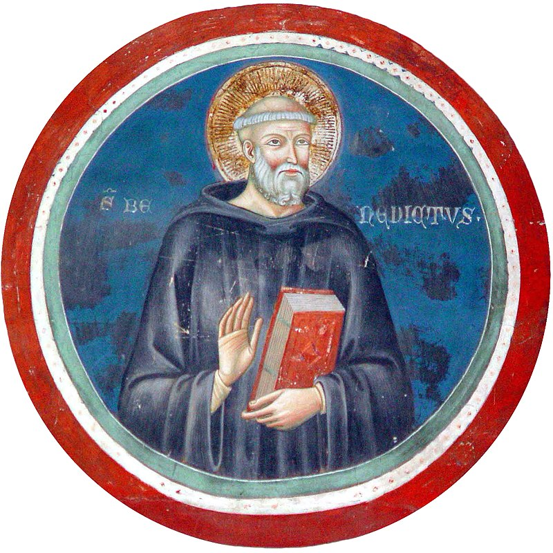 Saint Benoît de Nursie, une fresque de Subiaco dans images sacrée 800px-Benedikt_von_Nursia_20020817