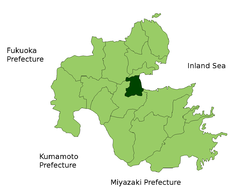 Location of Beppu in Ōita