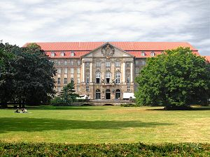 Allied Control Council - Kammergericht, 1945–1990 Headquarters of the Allied Control Council: View from the Kleistpark