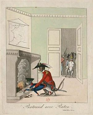 The Monkey and the Cat - A satirical French view of military glory from Napoleonic times
