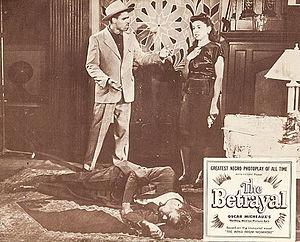 The Betrayal (1948 film) - Linda shoots Martin