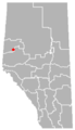 Bezanson, Alberta Location.png