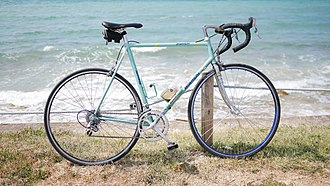 Bianchi (company) - Bianchi from late 1980s with Cro-Mo frame and 2×8 Shimano Dura Ace