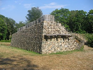 Oppidum - The reconstructed walls of Bibracte, France