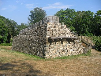 Fortification - Reconstructed walls of Bibracte, a Gaulish oppidum, showing the construction technique known as murus gallicus. Oppida were large fortified settlements used during the Iron Age.