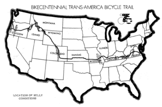 Bikecentennial 1976 bicycle tour and route across America