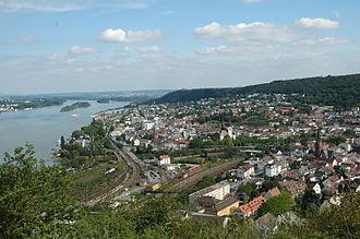 Bingen am Rhein - Bingen and Bingerbrück from the Elisenhöhe (heights)