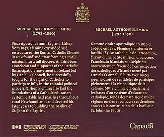 Michael Anthony Fleming - Plaque for Bishop Fleming