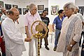 Biswatosh Sengupta Lighting Inaugural Lamp - 43rd PAD Group Exhibition Inauguration - Kolkata 2017-06-20 0348.JPG