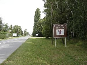 Bizovac - Image: Bizovacke toplice (20100727) putokaz