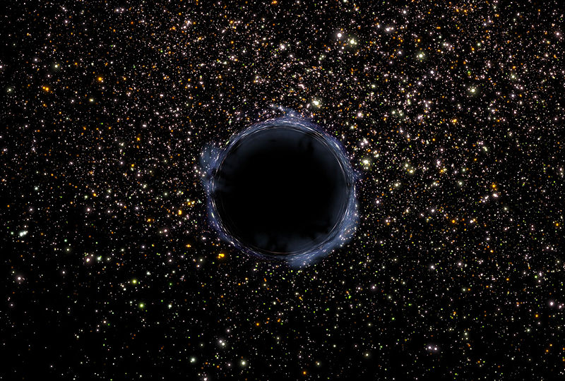 File:Black Hole in the universe.jpg
