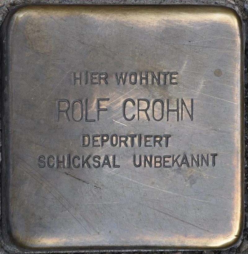 Blankenburg (Harz), Tränkestr. 21 Ecke Lange Straße, Stolperstein Rolf Crohn