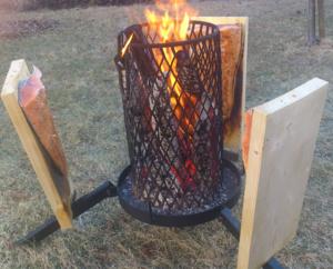 Loimulohi - Blazing salmon with blazing equipment