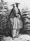 "The skirt seen in is an 1850s era ""Bloomer""."