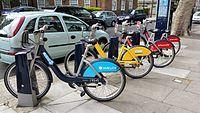 Blue, Yellow and Red Boris Bikes 2015-05-01