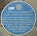 Blue Plaque, Chantry Chapel, Wakefield Bridge - geograph.org.uk - 281857.jpg