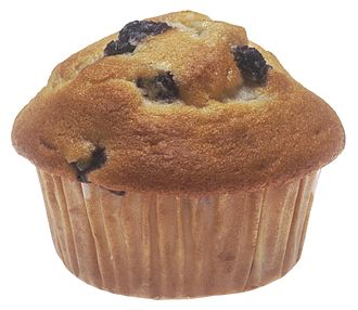 Muffin - A quickbread blueberry muffin.